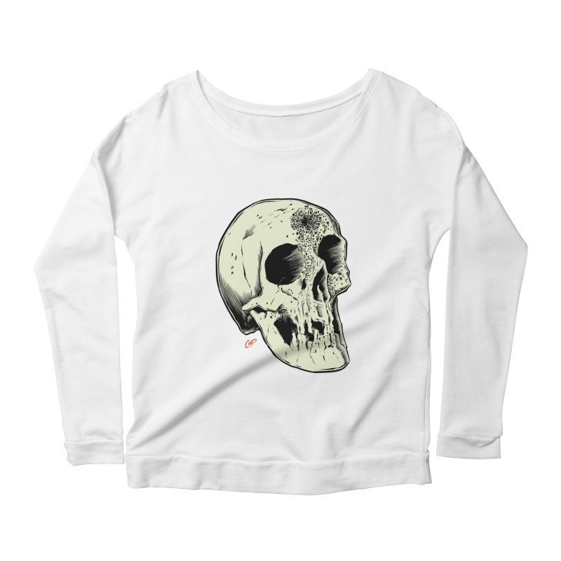 Voodoo Skull Women's Scoop Neck Longsleeve T-Shirt by The Art of Coop