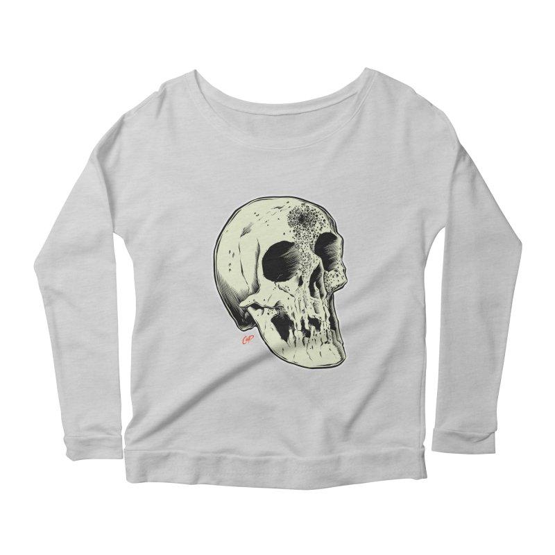 Voodoo Skull Women's Scoop Neck Longsleeve T-Shirt by The Art of Coop