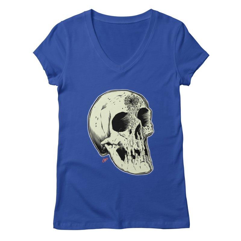 Voodoo Skull Women's Regular V-Neck by The Art of Coop
