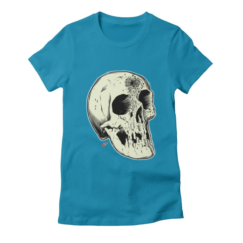 Voodoo Skull Women's Fitted T-Shirt by The Art of Coop