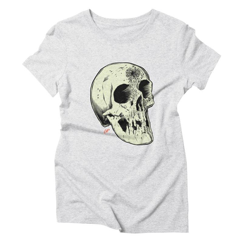 Voodoo Skull Women's Triblend T-Shirt by The Art of Coop