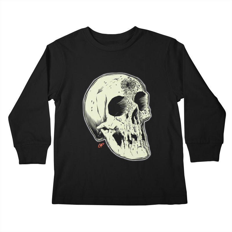 Voodoo Skull Kids Longsleeve T-Shirt by The Art of Coop