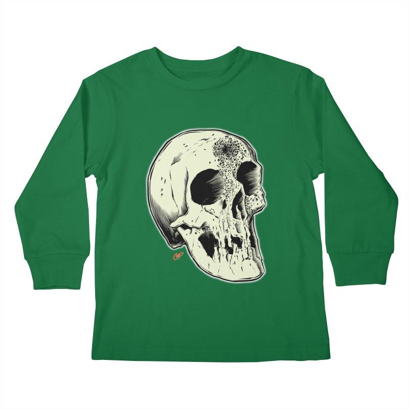 Voodoo Skull Kids Longsleeve T-Shirt by The Art of Coop