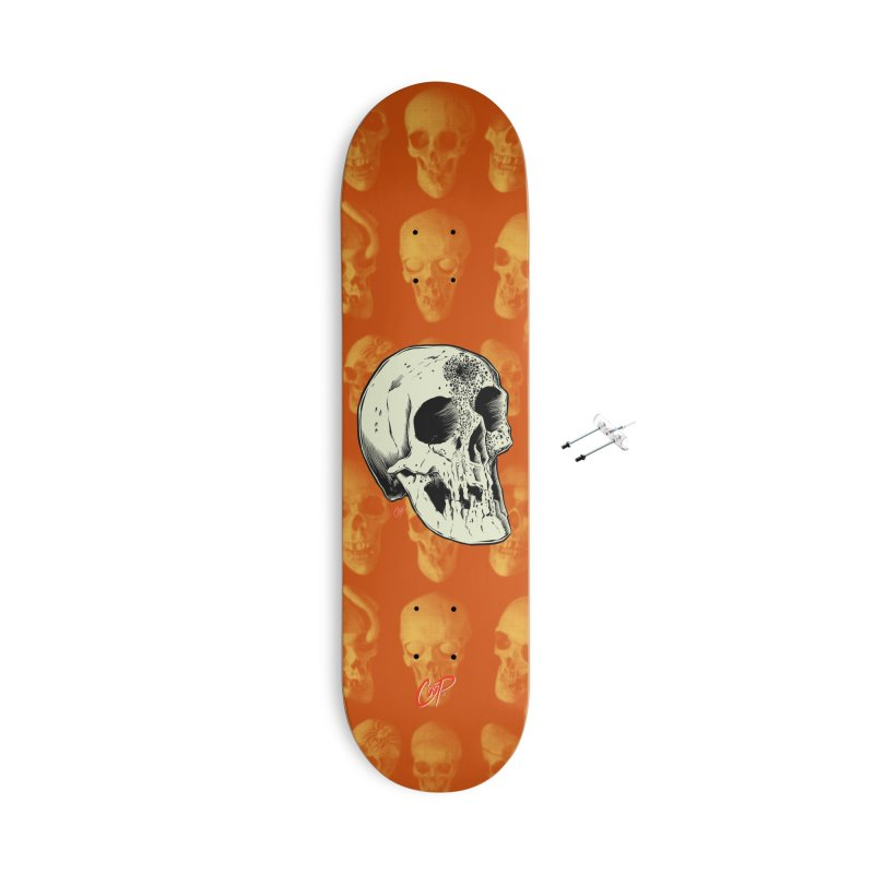 Voodoo Skull Accessories With Hanging Hardware Skateboard by The Art of Coop
