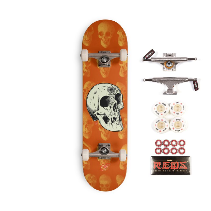 Voodoo Skull Accessories Skateboard by The Art of Coop