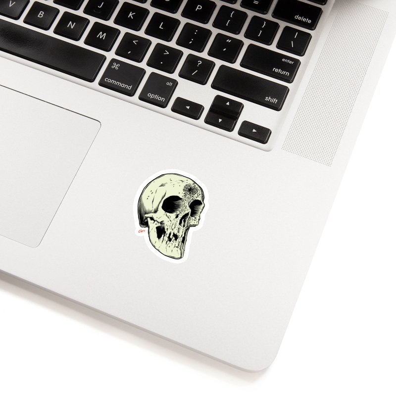 Voodoo Skull Accessories Sticker by The Art of Coop