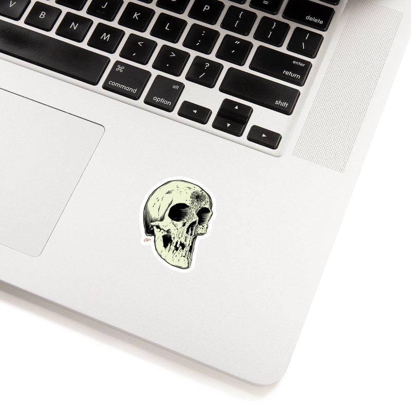 Voodoo Skull Accessories Sticker by The Art of Coop