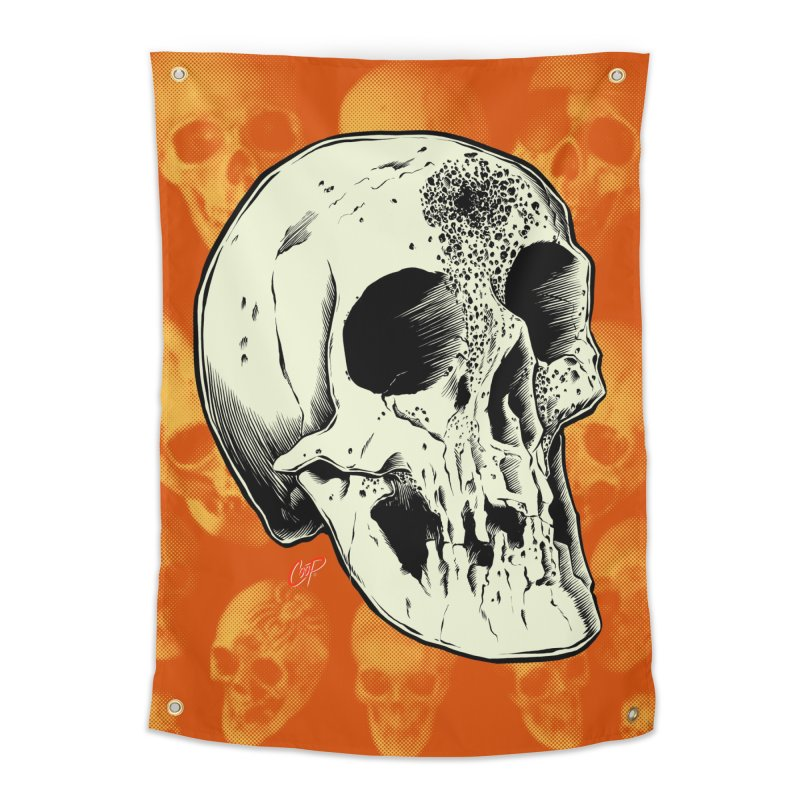 Voodoo Skull Home Tapestry by The Art of Coop