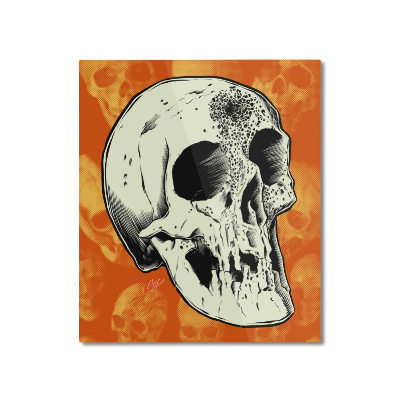 Voodoo Skull Home Mounted Aluminum Print by The Art of Coop