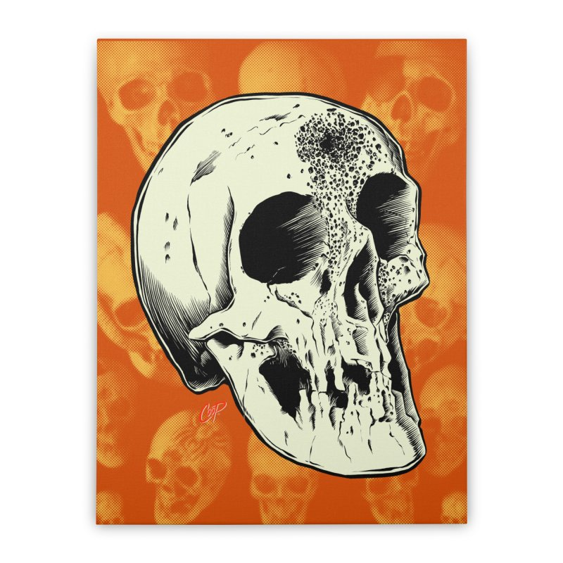Voodoo Skull Home Stretched Canvas by The Art of Coop