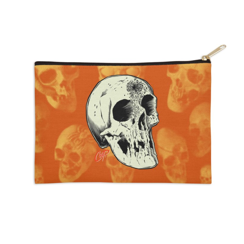 Voodoo Skull Accessories Zip Pouch by The Art of Coop