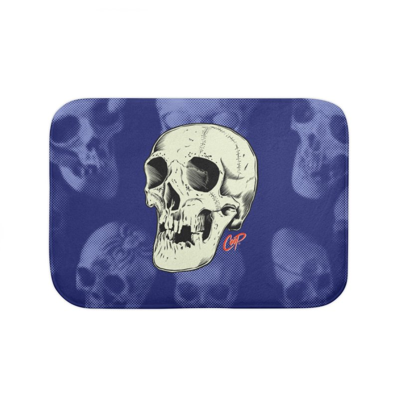 HAUNTED SKULL Home Bath Mat by The Art of Coop