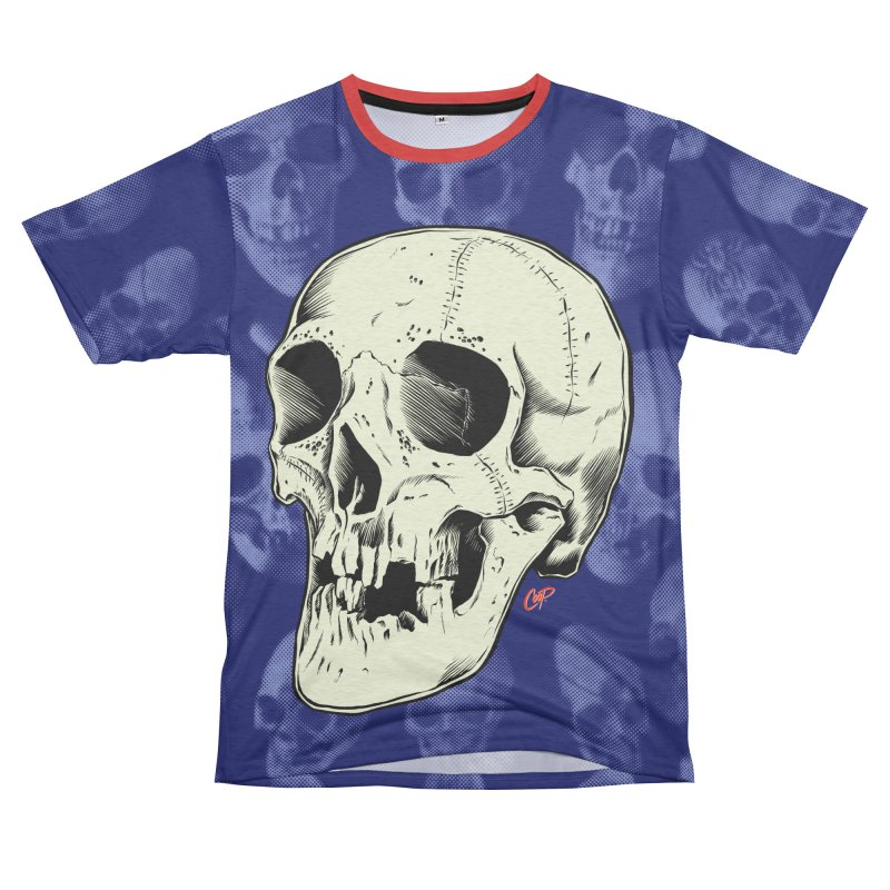 HAUNTED SKULL Women's Unisex French Terry T-Shirt Cut & Sew by The Art of Coop