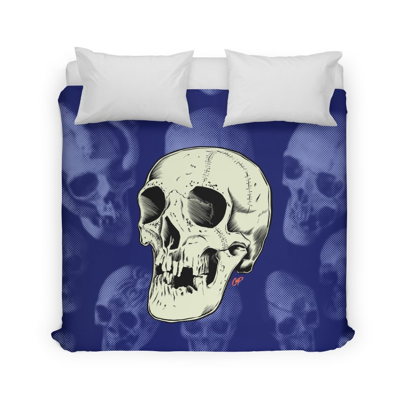 HAUNTED SKULL Home Duvet by The Art of Coop