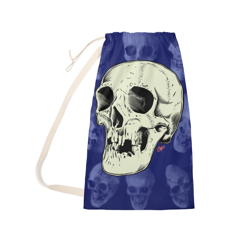 HAUNTED SKULL Accessories Laundry Bag Bag by The Art of Coop