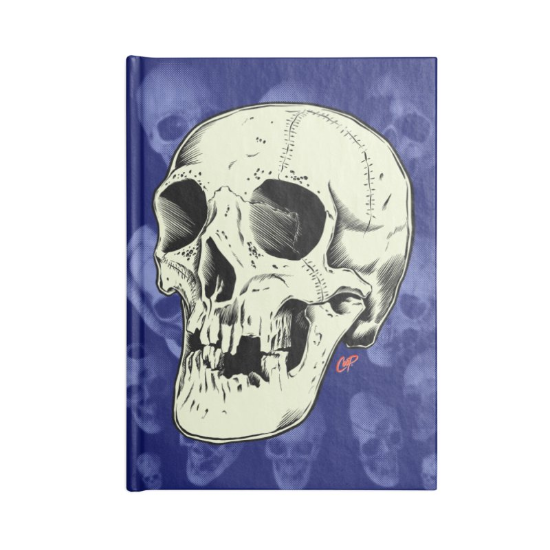 HAUNTED SKULL Accessories Lined Journal Notebook by The Art of Coop