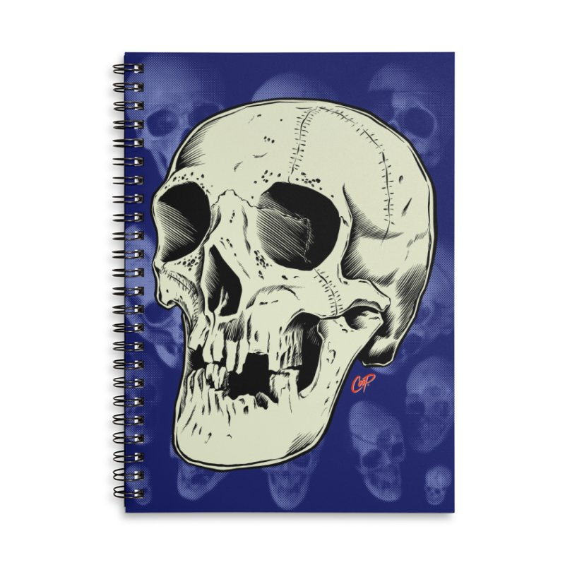 HAUNTED SKULL Accessories Lined Spiral Notebook by The Art of Coop