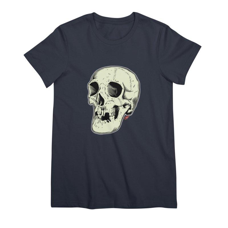 HAUNTED SKULL Women's Premium T-Shirt by The Art of Coop