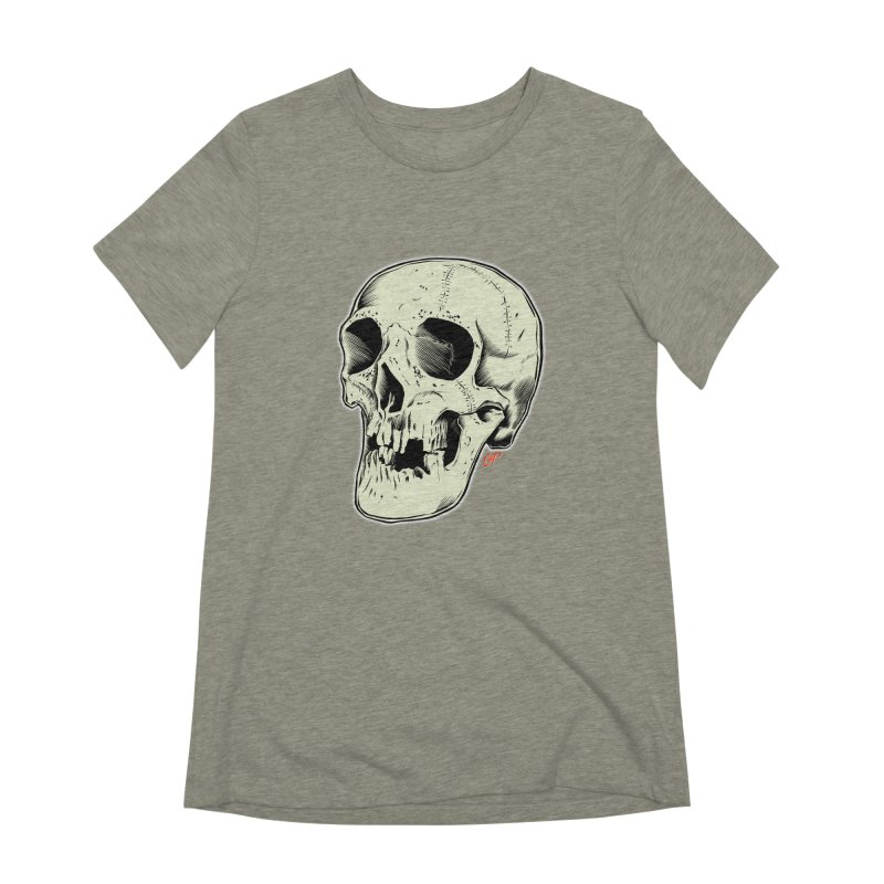 HAUNTED SKULL Women's Extra Soft T-Shirt by The Art of Coop