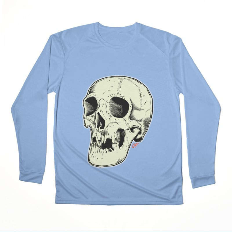 HAUNTED SKULL Men's Performance Longsleeve T-Shirt by The Art of Coop