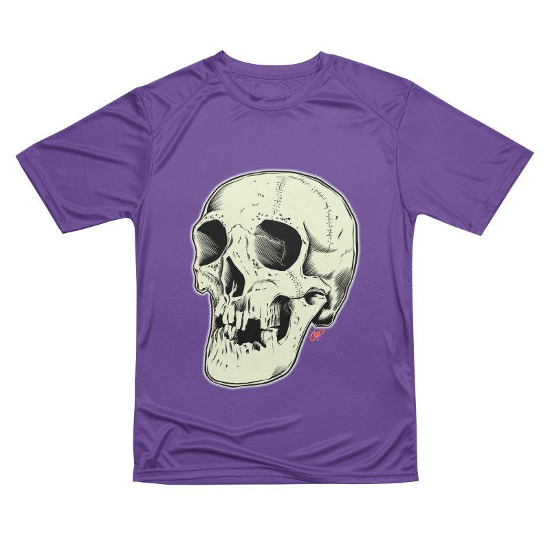HAUNTED SKULL Women's Performance Unisex T-Shirt by The Art of Coop