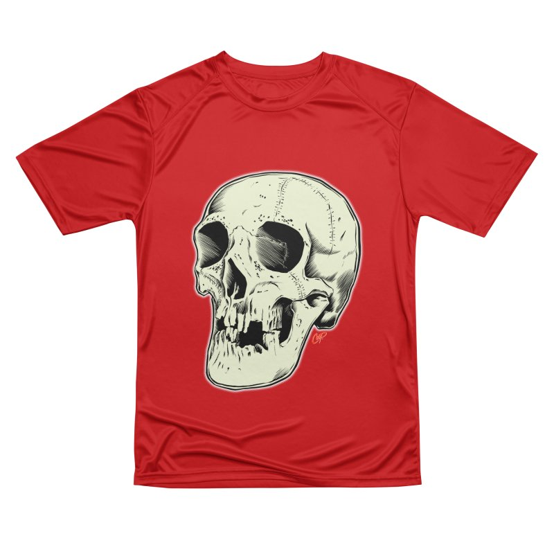 HAUNTED SKULL Men's Performance T-Shirt by The Art of Coop