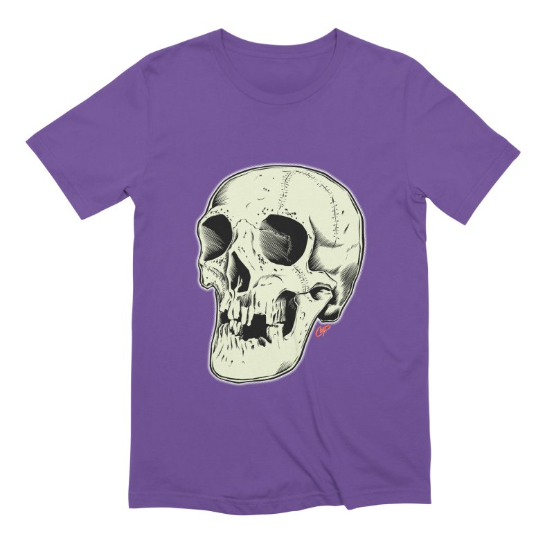 HAUNTED SKULL Men's Extra Soft T-Shirt by The Art of Coop