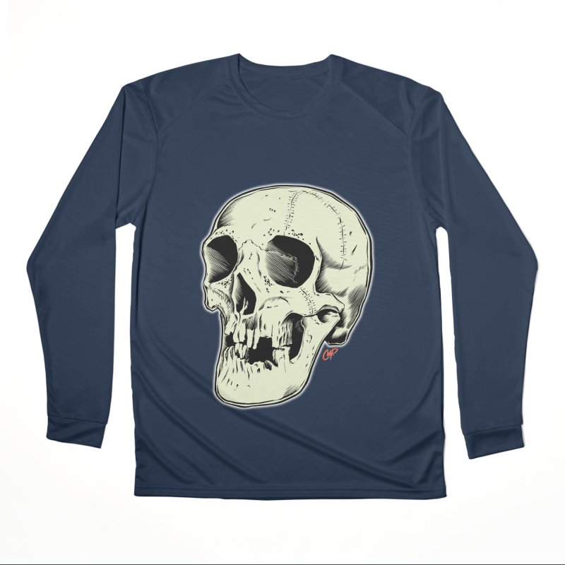 HAUNTED SKULL Women's Performance Unisex Longsleeve T-Shirt by The Art of Coop