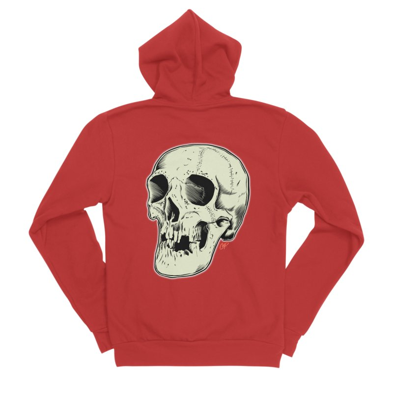 HAUNTED SKULL Women's Sponge Fleece Zip-Up Hoody by The Art of Coop