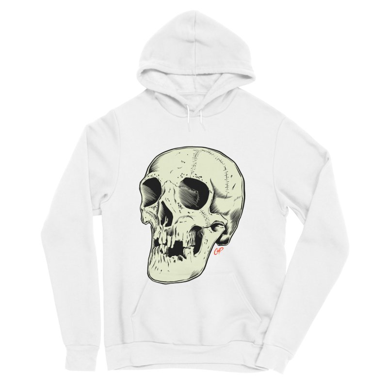 HAUNTED SKULL Men's Sponge Fleece Pullover Hoody by The Art of Coop