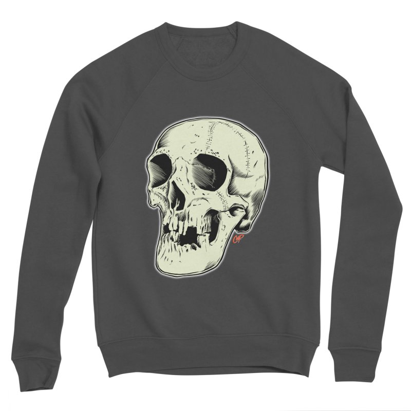HAUNTED SKULL Women's Sponge Fleece Sweatshirt by The Art of Coop