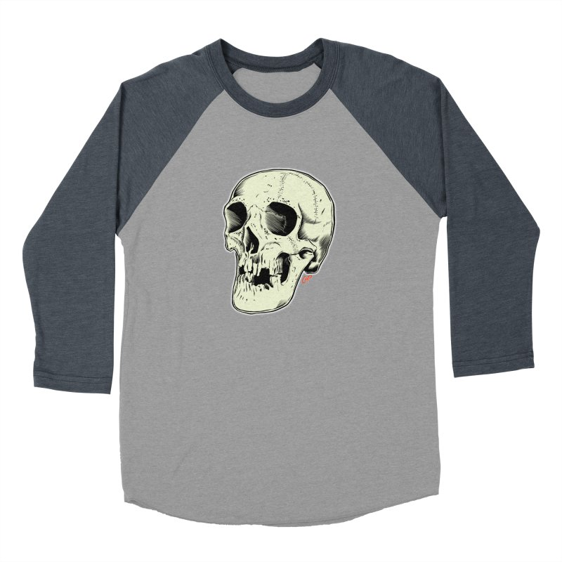 HAUNTED SKULL Women's Baseball Triblend Longsleeve T-Shirt by The Art of Coop