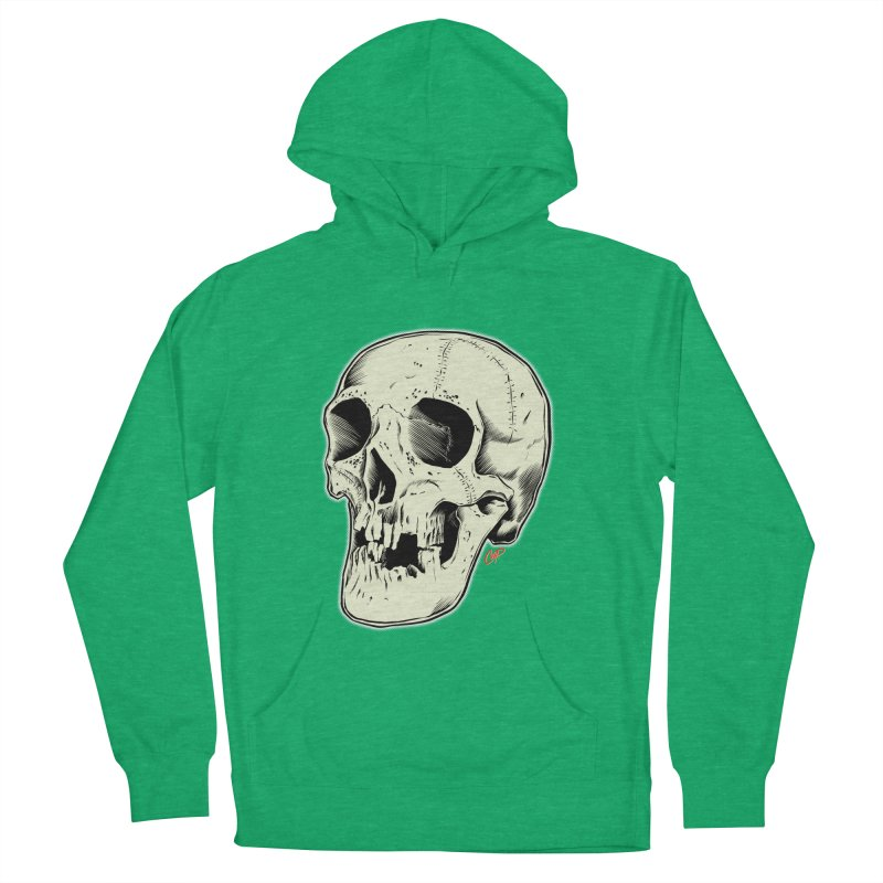 HAUNTED SKULL Women's French Terry Pullover Hoody by The Art of Coop