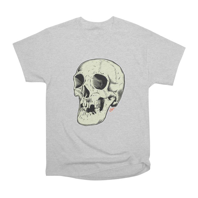 HAUNTED SKULL Women's Heavyweight Unisex T-Shirt by The Art of Coop
