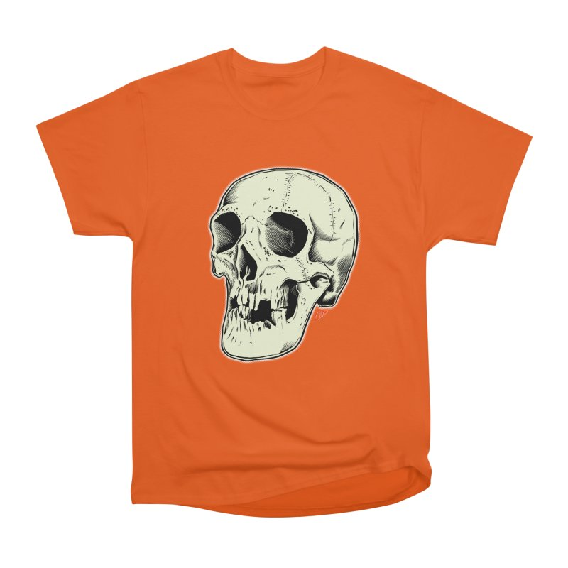 HAUNTED SKULL Men's Heavyweight T-Shirt by The Art of Coop