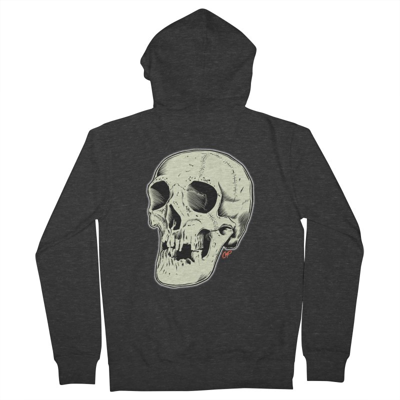 HAUNTED SKULL Women's French Terry Zip-Up Hoody by The Art of Coop