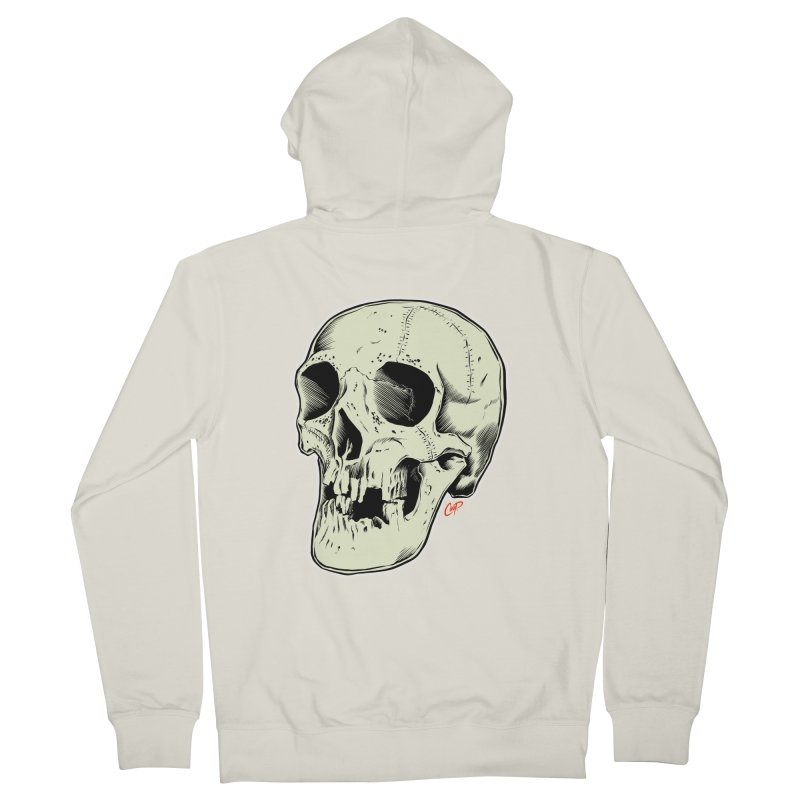 HAUNTED SKULL Men's French Terry Zip-Up Hoody by The Art of Coop
