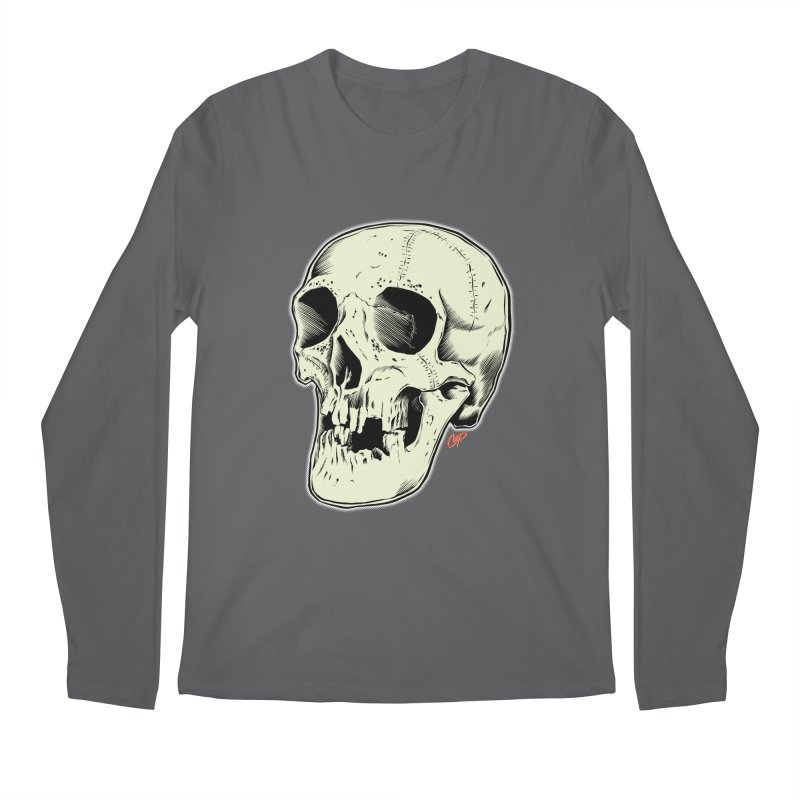HAUNTED SKULL Men's Regular Longsleeve T-Shirt by The Art of Coop