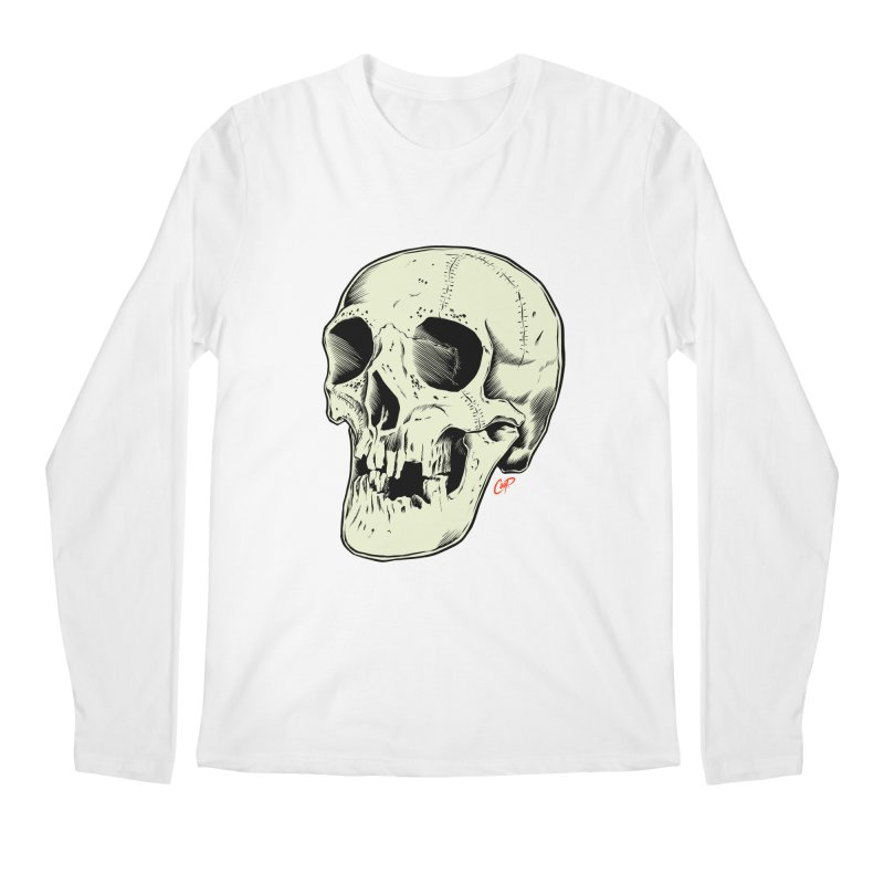HAUNTED SKULL Men's Regular Longsleeve T-Shirt by The Art of Coop