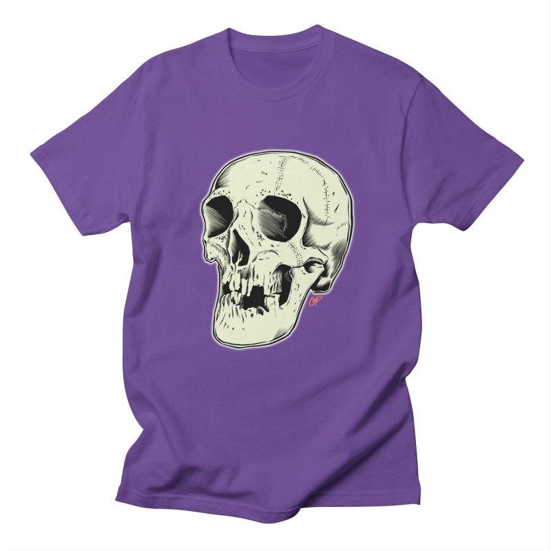 HAUNTED SKULL Women's Regular Unisex T-Shirt by The Art of Coop