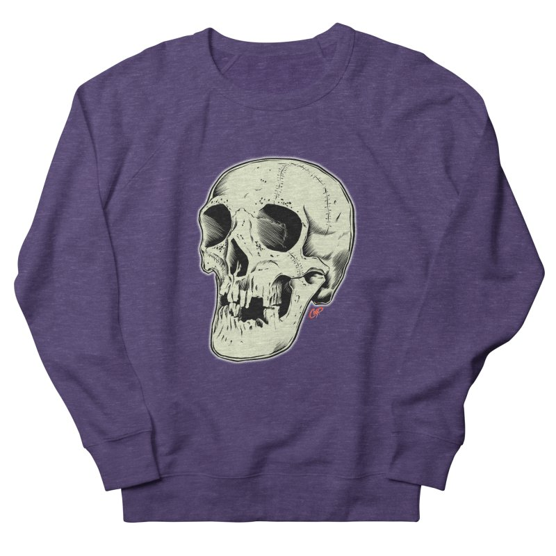 HAUNTED SKULL Women's French Terry Sweatshirt by The Art of Coop