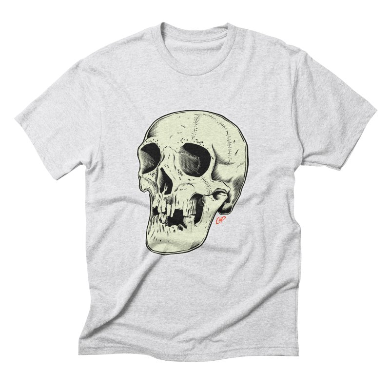 HAUNTED SKULL Men's Triblend T-Shirt by The Art of Coop