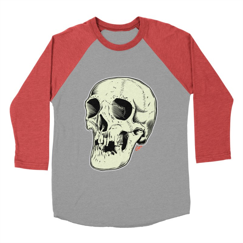 HAUNTED SKULL Women's Baseball Triblend Longsleeve T-Shirt by The Art of Coop