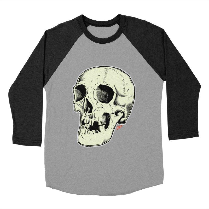 HAUNTED SKULL Men's Baseball Triblend Longsleeve T-Shirt by The Art of Coop