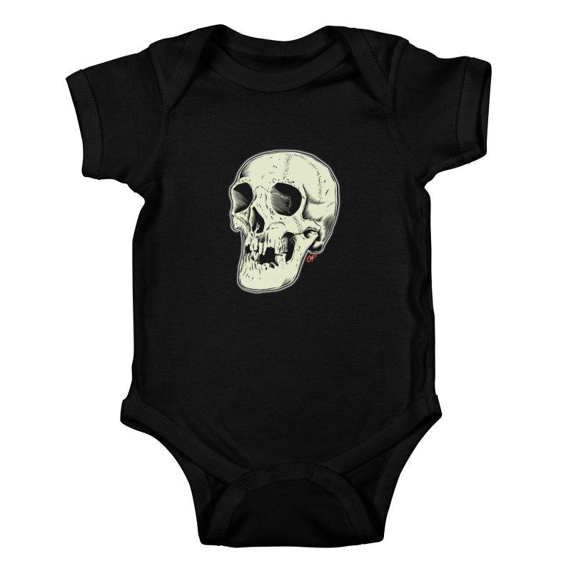 HAUNTED SKULL Kids Baby Bodysuit by The Art of Coop