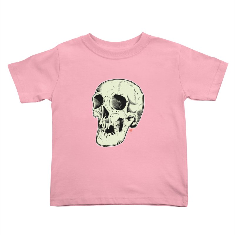 HAUNTED SKULL Kids Toddler T-Shirt by The Art of Coop