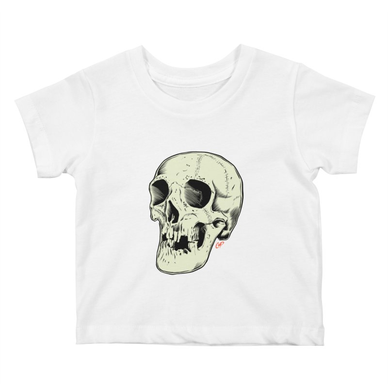 HAUNTED SKULL Kids Baby T-Shirt by The Art of Coop