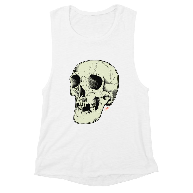 HAUNTED SKULL Women's Muscle Tank by The Art of Coop