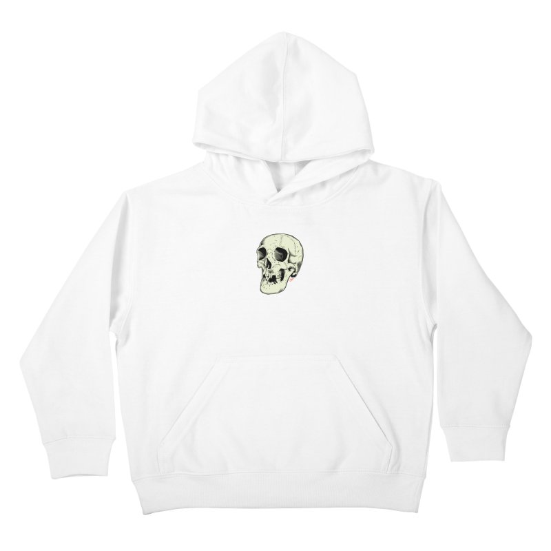 HAUNTED SKULL Kids Pullover Hoody by The Art of Coop