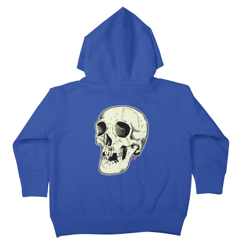 HAUNTED SKULL Kids Toddler Zip-Up Hoody by The Art of Coop